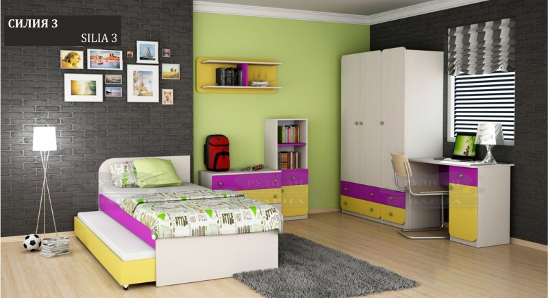 Modular children's bedroom system Silia-3