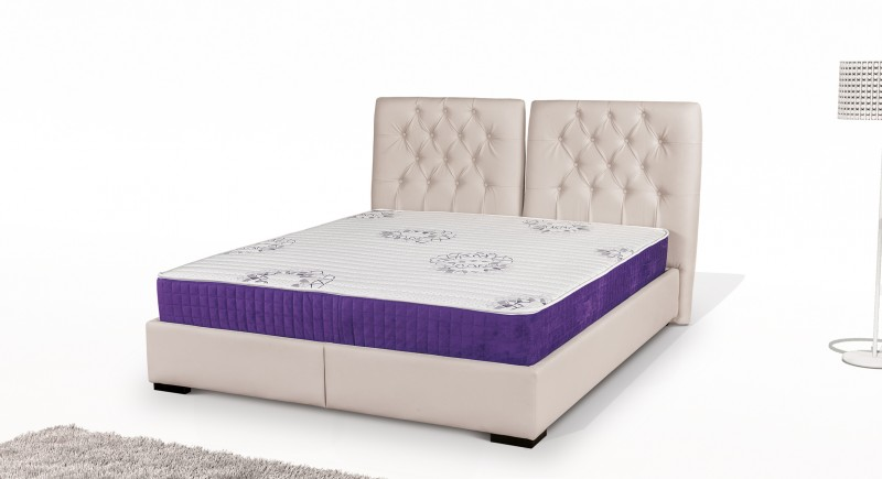 TASOS upholstered bed & headboard