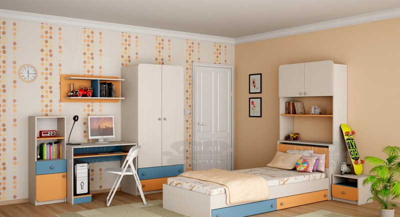 Modular children's bedroom system Silia-2