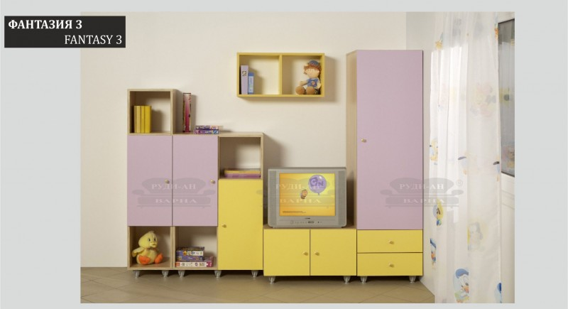 Modular children's bedroom system FANTASY-3