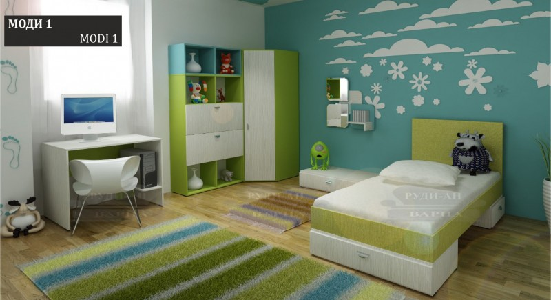 Modular children's bedroom system Modi-1