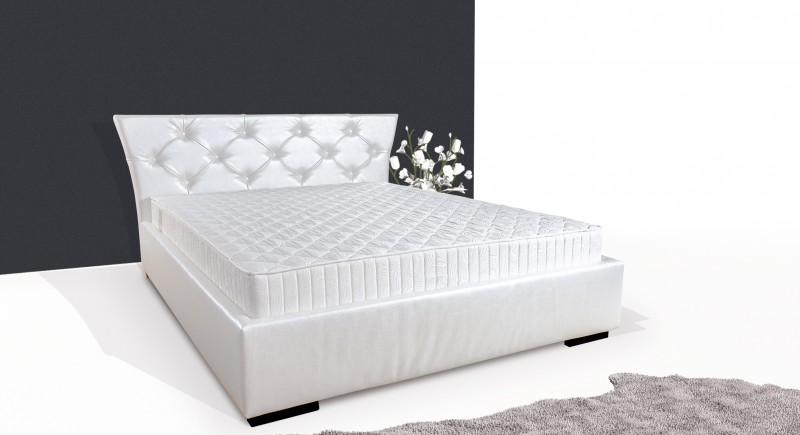 ALFA upholstered bed & headboard