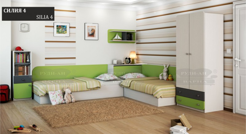 Modular children's bedroom system Silia-4